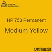 """Avery HP 750 - Medium Yellow- 12"""" x 5 Foot"""