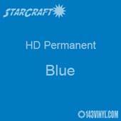 "12"" x 5' Roll - StarCraft HD Glossy Permanent Vinyl - Blue"