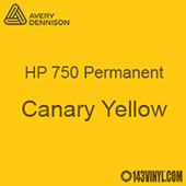 """Avery HP 750 - Canary Yellow- 12"""" x 5 Foot"""