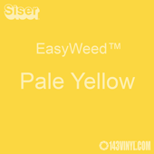 """EasyWeed HTV: 12"""" x 5 Foot - Pale Yellow"""