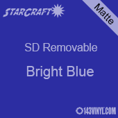 """12"""" x 10 Yard Roll  -StarCraft SD Removable Matte Adhesive - Bright Blue"""