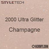 """StyleTech 2000 Ultra Glitter - 167 Champagne - 12""""x24"""" Sheet"""