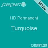 "12"" x 10 Yard Roll - StarCraft HD Matte Permanent Vinyl - Turquoise"