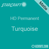 "12"" x 12"" Sheet - StarCraft HD Matte Permanent Vinyl - Turquoise"