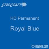 "12"" x 12"" Sheet - StarCraft HD Glossy Permanent Vinyl - Royal Blue"