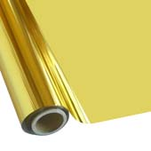 """25 Foot Roll of 12"""" StarCraft Electra Foil - Bright Gold"""