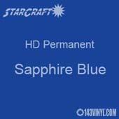 "12"" x 5' Roll - StarCraft HD Glossy Permanent Vinyl - Sapphire Blue"