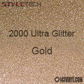 "StyleTech 2000 Ultra Glitter - 127 Gold - 12""x24"" Sheet"