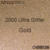 "StyleTech 2000 Ultra Glitter - 127 Gold - 12""x12"" Sheet"