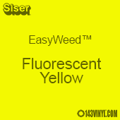 "EasyWeed HTV: 12"" x 5 Foot - Fluorescent Yellow"