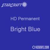 "12"" x 24"" Sheet - StarCraft HD Glossy Permanent Vinyl - Bright Blue"