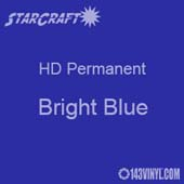 "12"" x 5' Roll - StarCraft HD Glossy Permanent Vinyl - Bright Blue"