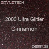 "StyleTech 2000 Ultra Glitter - 145 Cinnamon - 12""x24"" Sheet"