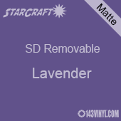 """12"""" x 10 Yard Roll  -StarCraft SD Removable Matte Adhesive - Lavender"""