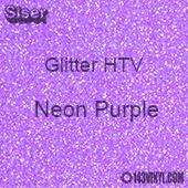 "Glitter HTV: 12"" x 5 Yard Roll - Neon Purple"