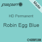 """12"""" x 24"""" Sheet - StarCraft HD Matte Permanent Vinyl - Robin Egg Blue"""
