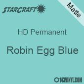 """12"""" x 5' Roll - StarCraft HD Matte Permanent Vinyl - Robin Egg Blue"""