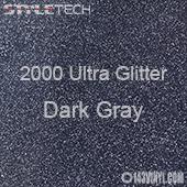 "StyleTech 2000 Ultra Glitter - 144 Dark Gray - 12""x12"" Sheet"