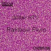 "Glitter HTV: 12"" x 5 Yard Roll - Rainbow Plum"