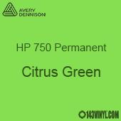"""Avery HP 750 - Citrus Green- 12"""" x 5 Foot"""