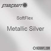 "12"" x 5 Foot Roll -StarCraft SoftFlex HTV - Metallic Silver"