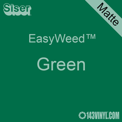 """EasyWeed HTV: 12"""" x 24"""" - Matte Green"""
