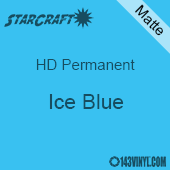 """12"""" x 12"""" Sheet - StarCraft HD Matte Permanent Vinyl - Ice Blue"""
