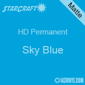 "12"" x 10 Yard Roll - StarCraft HD Matte Permanent Vinyl - Sky Blue"
