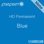 """12"""" x 5' Roll - StarCraft HD Matte Permanent Vinyl - Blue"""