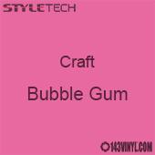 "Styletech Craft Vinyl - Bubble Gum- 12"" x 24"" Sheet"