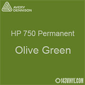 """Avery HP 750 - Olive Green- 12"""" x 5 Foot"""