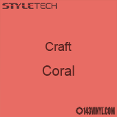 "Styletech Craft Vinyl - Coral- 12"" x 24"" Sheet"