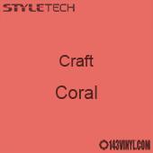 "Styletech Craft Vinyl - Coral- 12"" x 5 Foot"