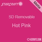 "12"" x 24"" Sheet -StarCraft SD Removable Matte Adhesive - Hot Pink"