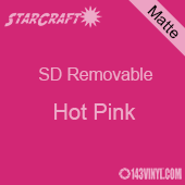 """12"""" x 10 Yard Roll  -StarCraft SD Removable Matte Adhesive - Hot Pink"""