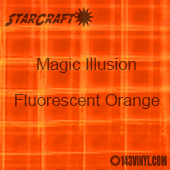 "12"" x 12"" Sheet - StarCraft Magic - Illusion Fluorescent Orange"