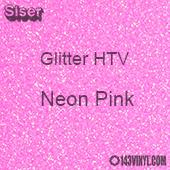 "Glitter HTV: 12"" x 5 Yard Roll - Neon Pink"