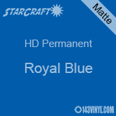 "12"" x 5' Roll - StarCraft HD Matte Permanent Vinyl - Royal Blue"