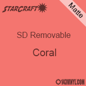 """12"""" x 10 Yard Roll  -StarCraft SD Removable Matte Adhesive - Coral"""