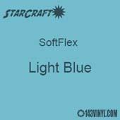 """12"""" x 5 Foot Roll -StarCraft SoftFlex HTV - Light Blue"""