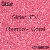 "Glitter HTV: 12"" x 20"" - Rainbow Coral"