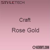 "Styletech Craft Vinyl - Rose Gold- 12"" x 24"" Sheet"