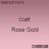"Styletech Craft Vinyl - Rose Gold- 12"" x 5 Foot"