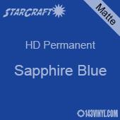 """12"""" x 5' Roll - StarCraft HD Matte Permanent Vinyl - Sapphire Blue"""