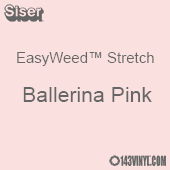 """12"""" x 5 Foot Roll Siser EasyWeed Stretch HTV - Ballerina Pink"""