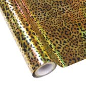 """25 Foot Roll of 12"""" StarCraft Electra Foil - Holographic Leopard"""