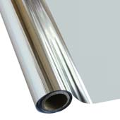 """25 Foot Roll of 12"""" StarCraft Electra Foil - Bright Silver"""