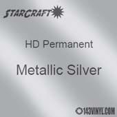 "12"" x 24"" Sheet - StarCraft HD Glossy Permanent Vinyl - Metallic Silver"