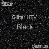"""Glitter HTV: 12"""" x 5 Yard Roll - Black"""