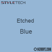 "Etched Blue Vinyl - 12""x24"" Sheet"